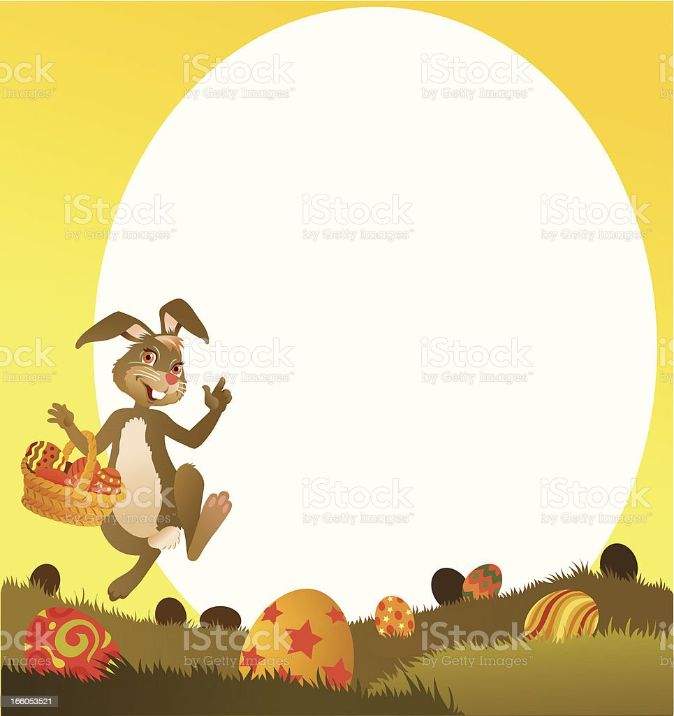 Easter Bunny Card royalty-free stock vector art