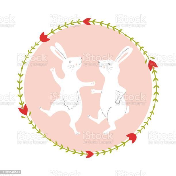 Easter bunny character happy running and dancing rabbits flower frame vector id1138546541?b=1&k=6&m=1138546541&s=612x612&h=8apu7ubgwrfttuajkpug0gllddsooirtszok7vvihbu=