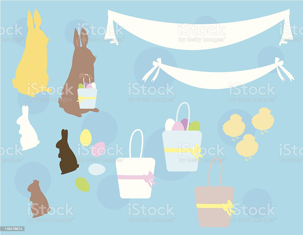 Easter Bunny Design Elements royalty-free easter bunny design elements stock vector art & more images of animal