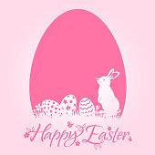 Easter bunny design element. EPS10.