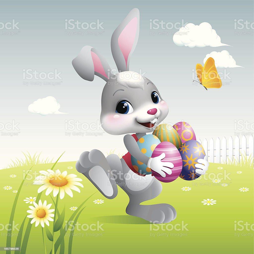 Easter Bunny - eggs royalty-free stock vector art