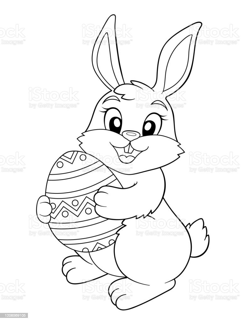 310 Easter Coloring Rabbit Coloring Book Illustrations, Royalty-Free Vector  Graphics & Clip Art - IStock
