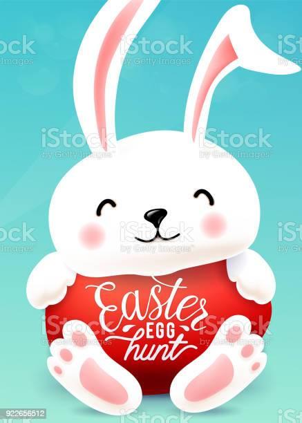 Easter bunny hugs egg with holiday greeting quote easter egg hunt vector id922656512?b=1&k=6&m=922656512&s=612x612&h=h97rl 7mtu33vysuf702dkojapwttj2b8dw3gle1n3o=
