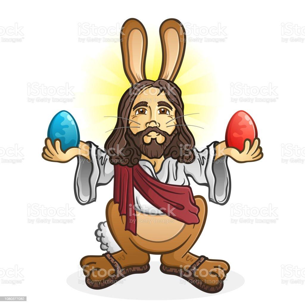 Vetores De Personagem De Desenho Animado De Jesus De Coelhinho Da