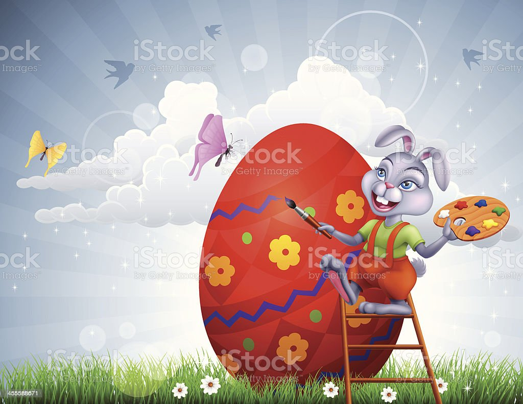 Easter Bunny Painter royalty-free easter bunny painter stock vector art & more images of animal body part