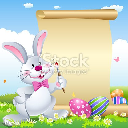 Easter bunny scroll
