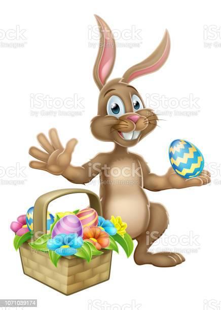 Easter bunny rabbit egg hunt cartoon vector id1071039174?b=1&k=6&m=1071039174&s=612x612&h=l1z2 9yxmyu4ll3nsef xww9o4olrwlbgu7ghaqpojy=