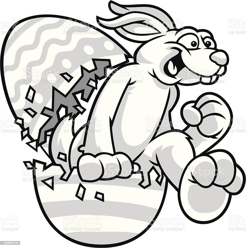 Easter Bunny Run vector art illustration