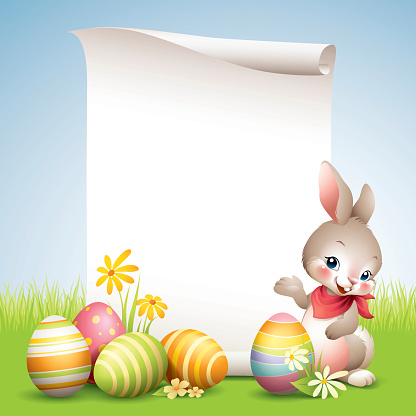Easter Bunny - Scroll