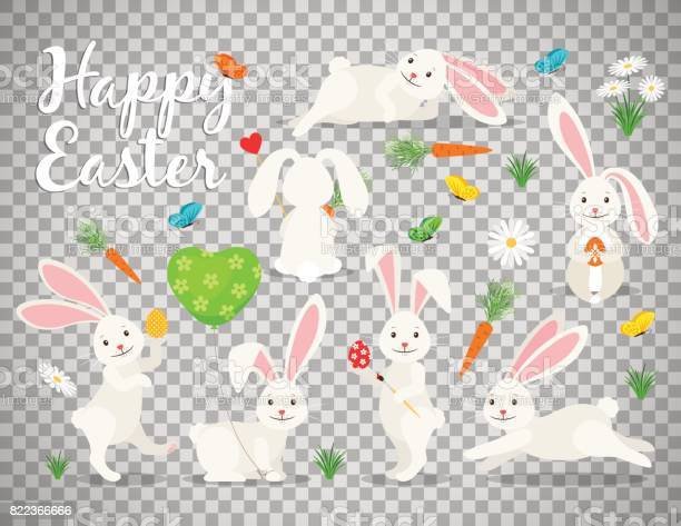 Easter bunny set on transparent background vector id822366666?b=1&k=6&m=822366666&s=612x612&h=v75q0x1krsjama2vx1twsmgznhhae7lvjim7cpn1ys4=