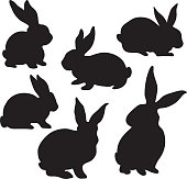 A vector illustration of Easter Bunny Silhouette.