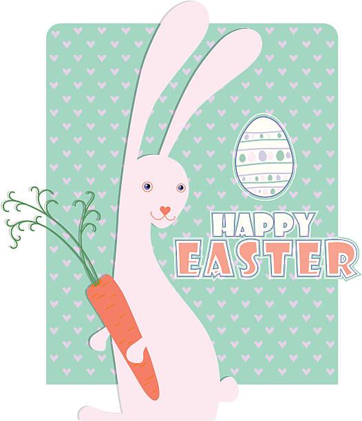 easter bunny. - karotte peace stock-grafiken, -clipart, -cartoons und -symbole
