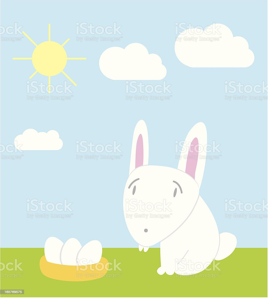 easter bunny vector art illustration