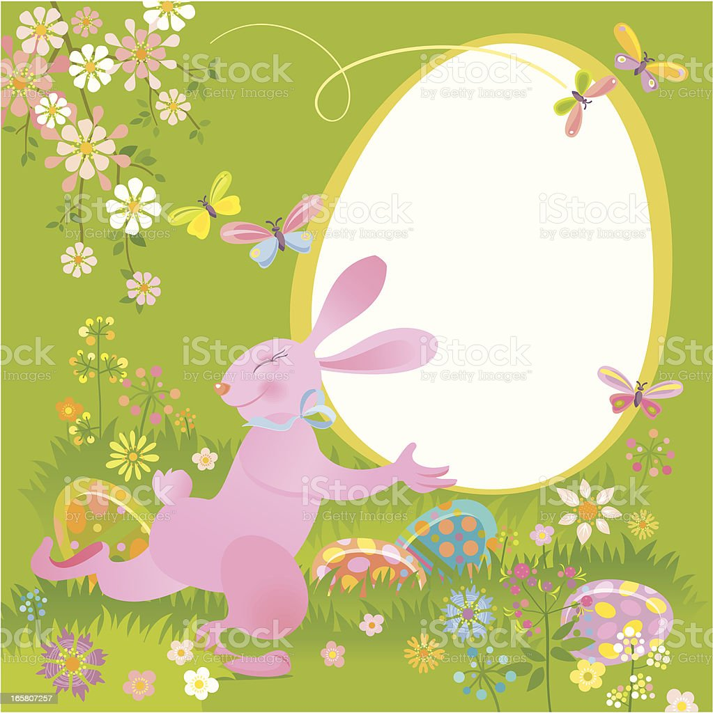 Easter Bunny royalty-free stock vector art