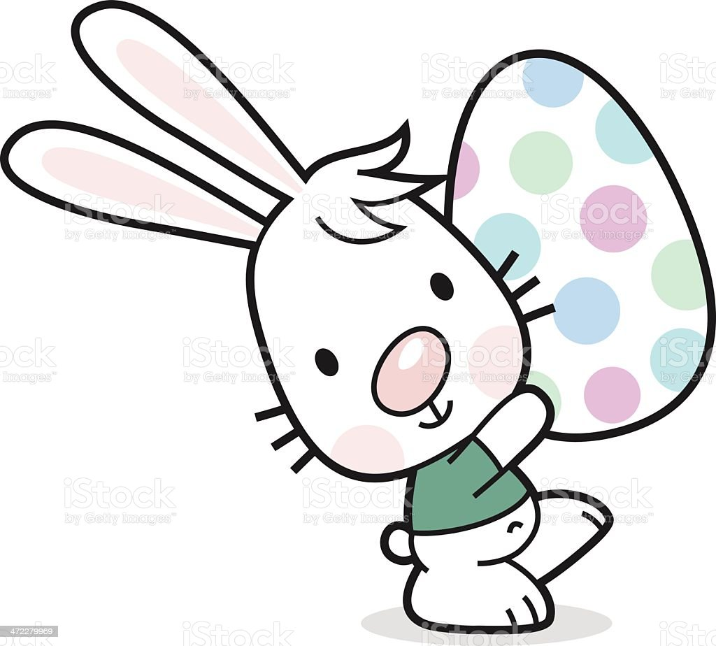 Easter bunny with painted egg royalty-free easter bunny with painted egg stock vector art & more images of animal