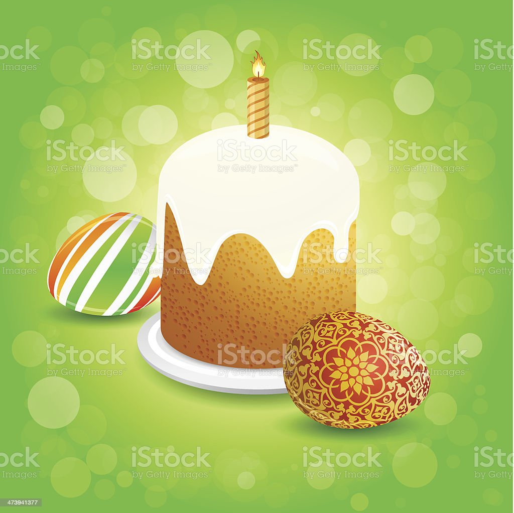 Easter Cake royalty-free stock vector art