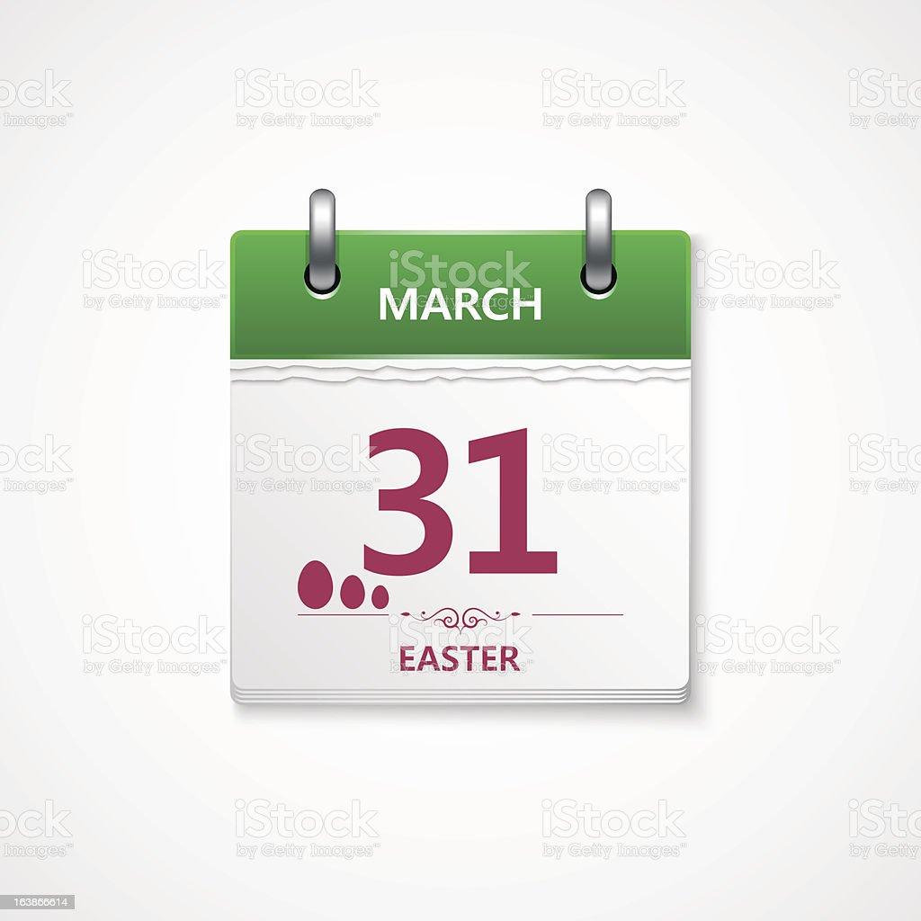 easter calendar royalty-free stock vector art