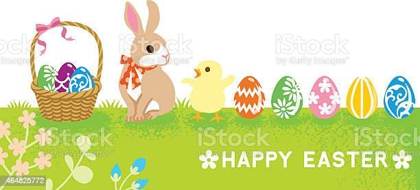 Easter card baby rabbit and chick vector id464825772?b=1&k=6&m=464825772&s=612x612&h=dvhccxqbdceyea nud6mmpeux2lor9i3bwstvdnbryu=