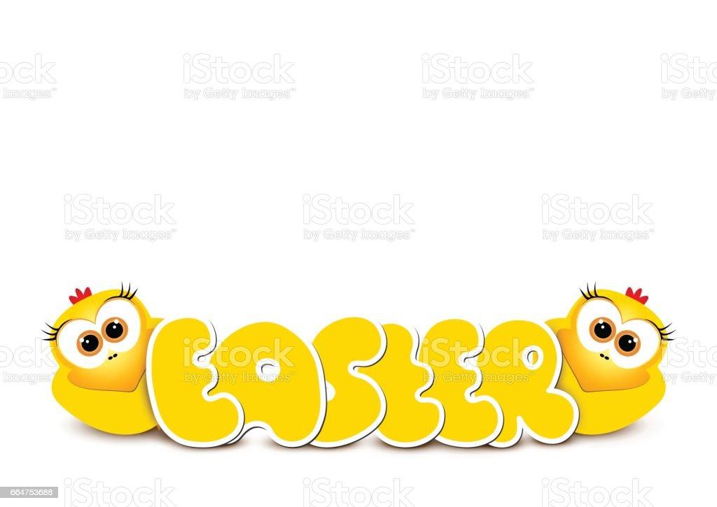 Gelbe Karte Lustig.Osternkartedesignvorlage Zwei Lustige Gelbe Hühner Glücklich Ea