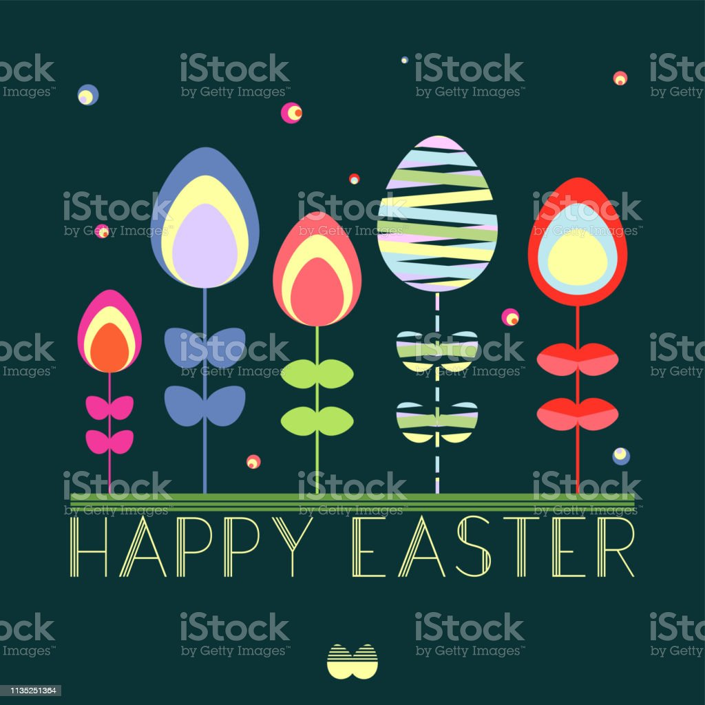 Easter Card vector graphic vector art illustration