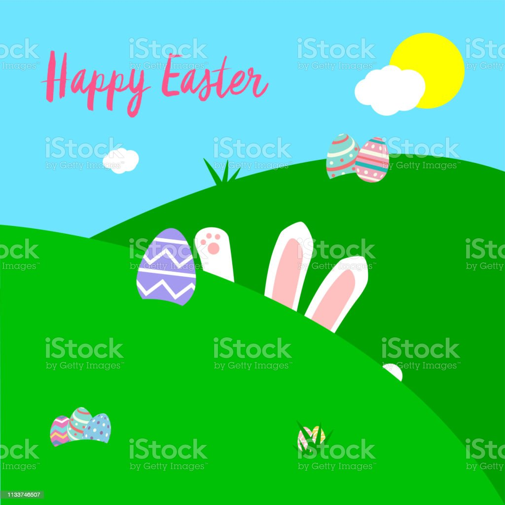 Easter Card vector art illustration