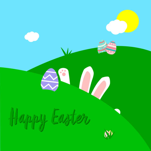 Easter Card vector art illustration