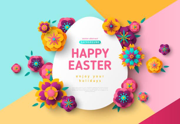 Tarjeta de Pascua con el marco de huevo - ilustración de arte vectorial