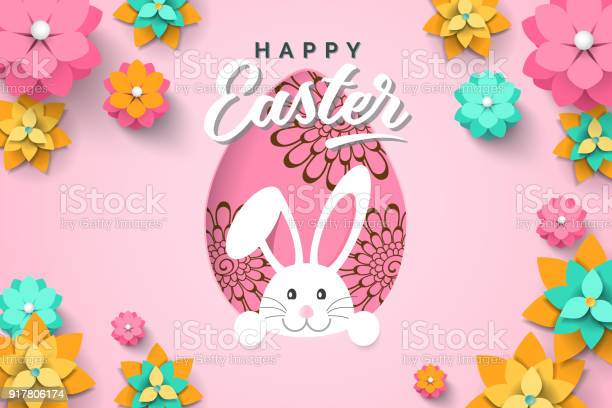 Easter card with paper cut egg shape frame with spring flowers on vector id917806174?b=1&k=6&m=917806174&s=612x612&h=skaxwfdmxe2 r626i iszlh7y xdg0zoltfpics1b1e=