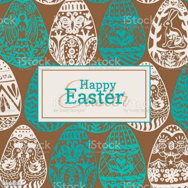 Easter card with vintage eggs vector id605994504?b=1&k=6&m=605994504&s=612x612&h=rn7l4uc1sor2i07g7v5xxf1svjpmrdmvfvkhe71ggww=