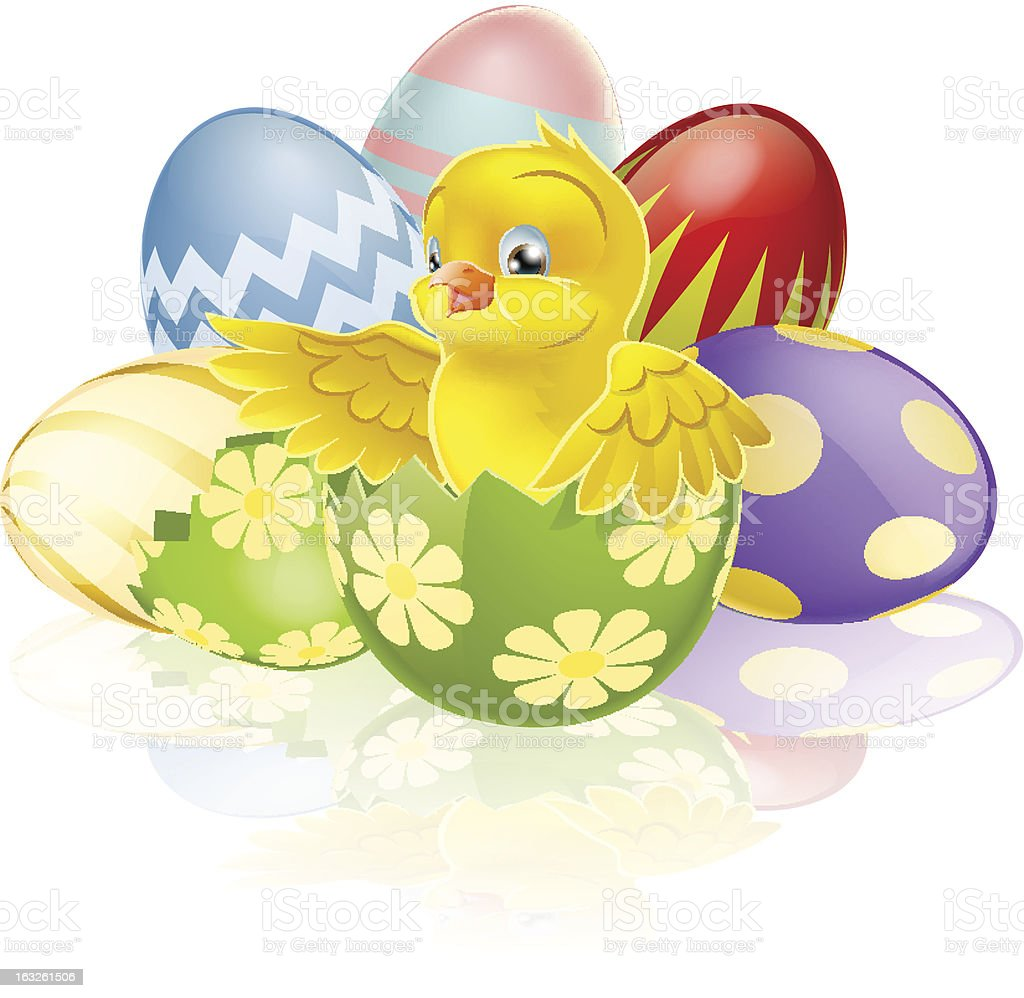 Easter chick in egg royalty-free easter chick in egg stock vector art & more images of animal