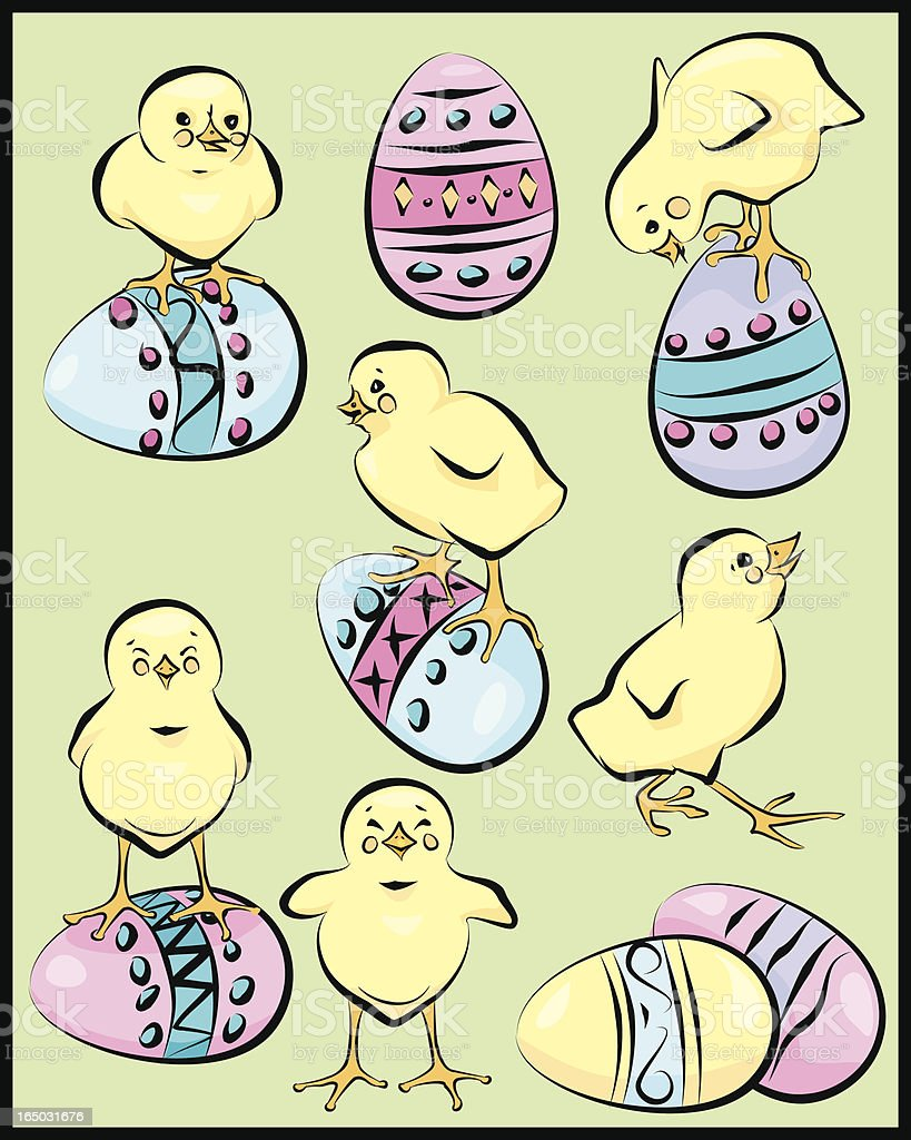 Easter Chicks royalty-free stock vector art