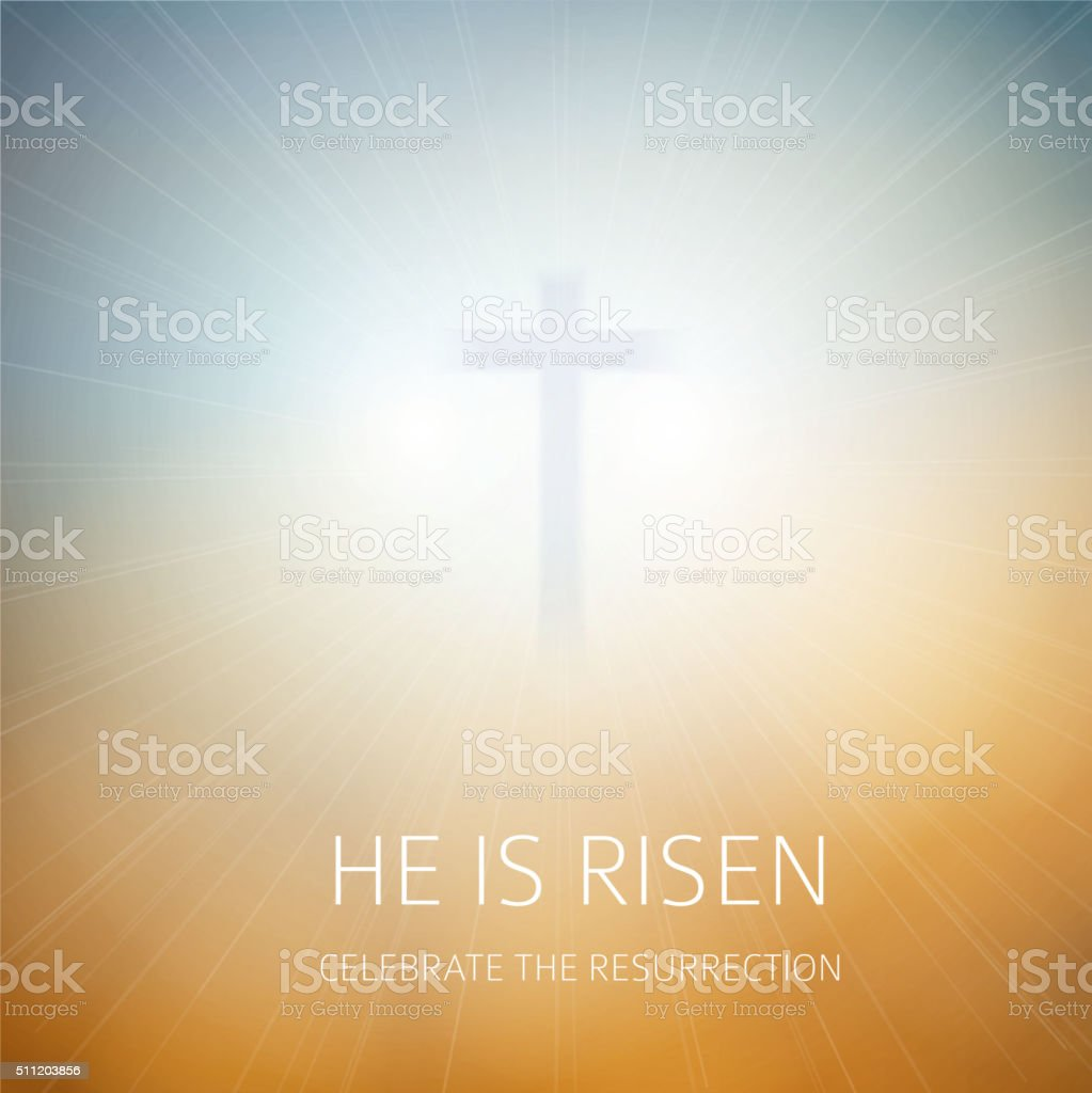 Easter christian background resurrection vector art illustration
