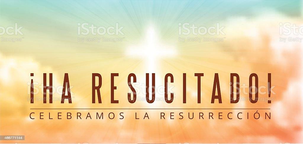 easter christian motive, resurrection vector art illustration