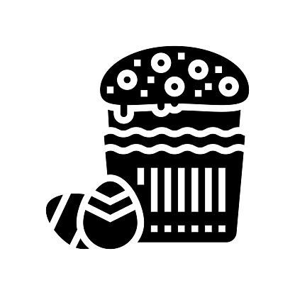 easter christianity glyph icon vector illustration