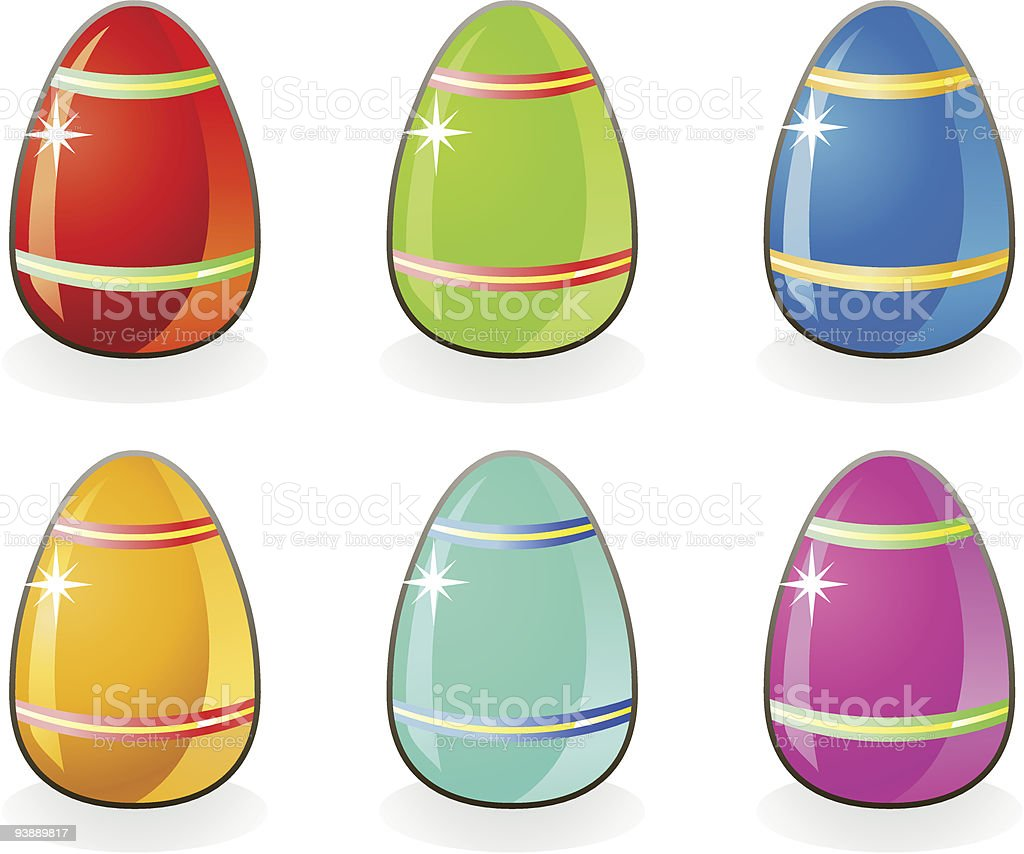 Easter colored eggs / vector royalty-free stock vector art