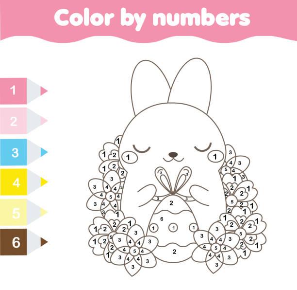 Vectores de Páginas Para Colorear Conejo e Ilustraciones Libres de ...