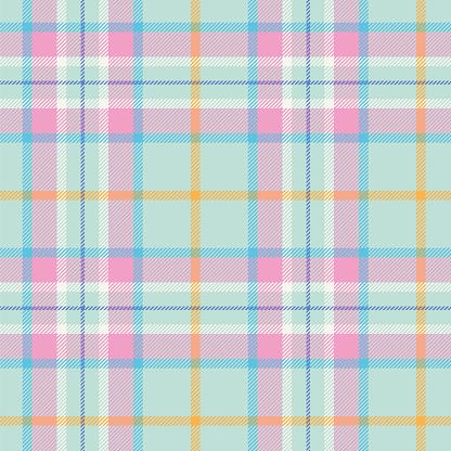 Easter Colors Tartan Seamless Pattern