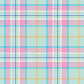 Easter Colors Tartan Seamless Pattern - Illustration