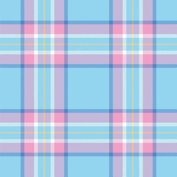 Easter Colors Tartan Seamless Pattern Easter Colors Tartan Seamless Pattern - Illustration tartan pattern stock illustrations