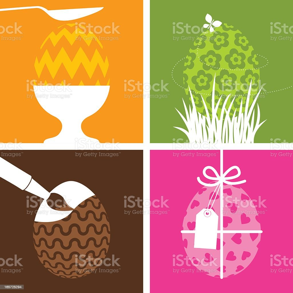 Easter concepts vector art illustration