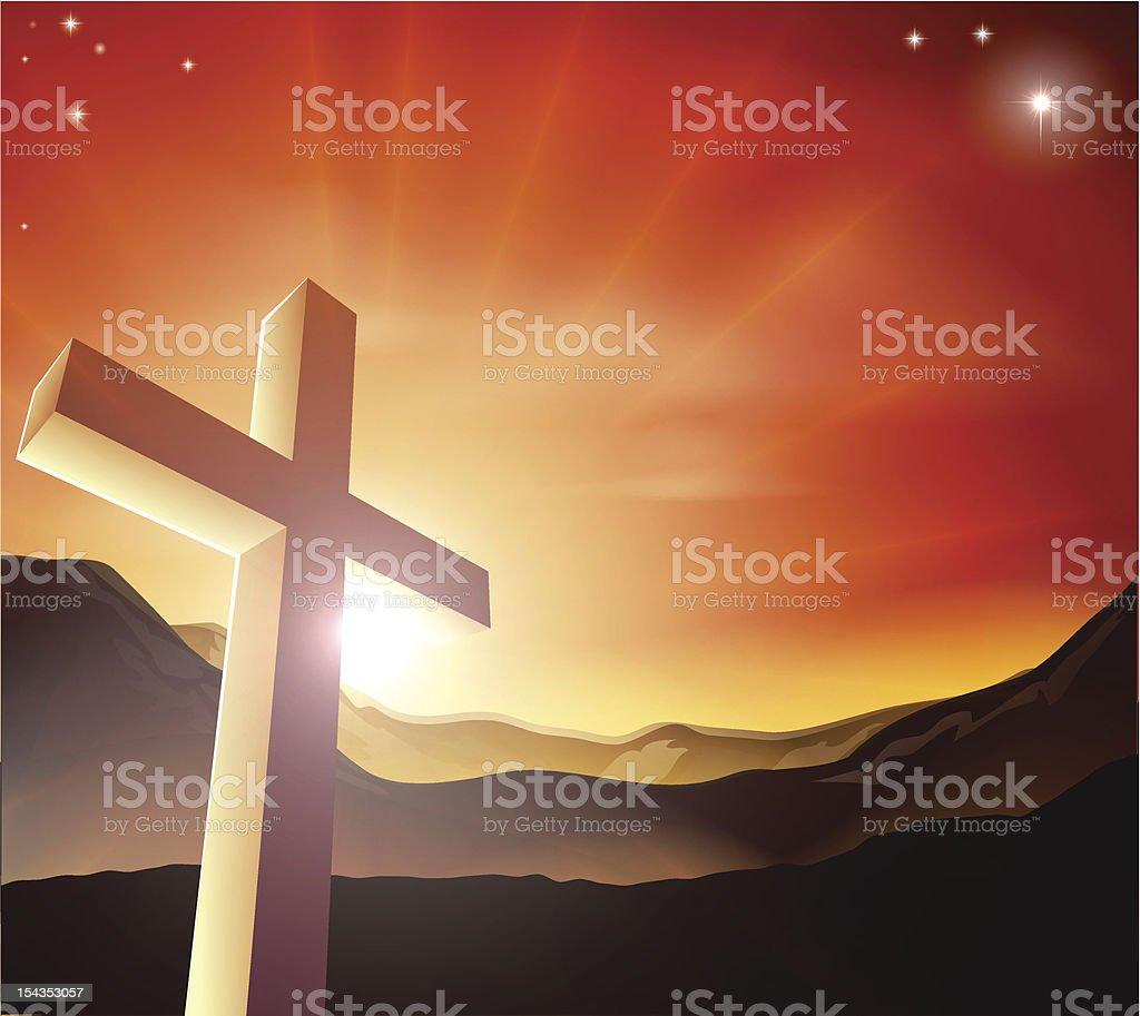Easter cross concept royalty-free stock vector art