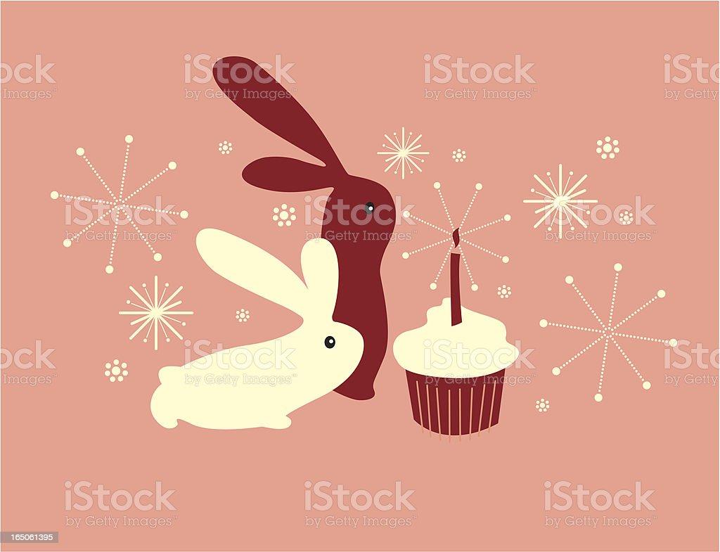 Easter cupcake royalty-free stock vector art