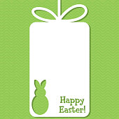 Easter cut out tag card in vector format.
