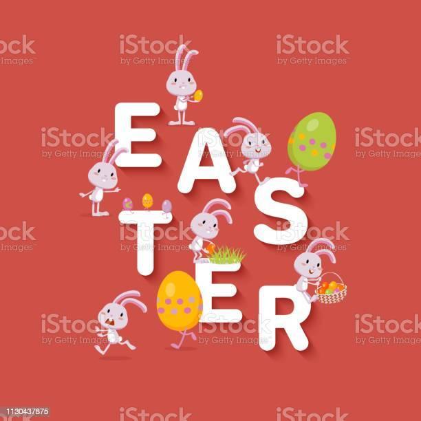 Easter design funny tiny bunnies and colored eggs flat festive vector vector id1130437875?b=1&k=6&m=1130437875&s=612x612&h=o77uaxkjo7gtjkhqrnzkutk09gerz6c67fy7fjh57x8=