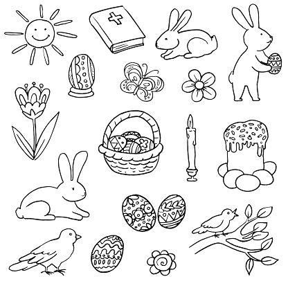 Easter Doodles Set