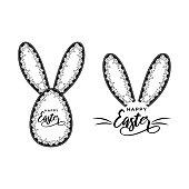 Easter egg with marijuana  leaves vector illustration