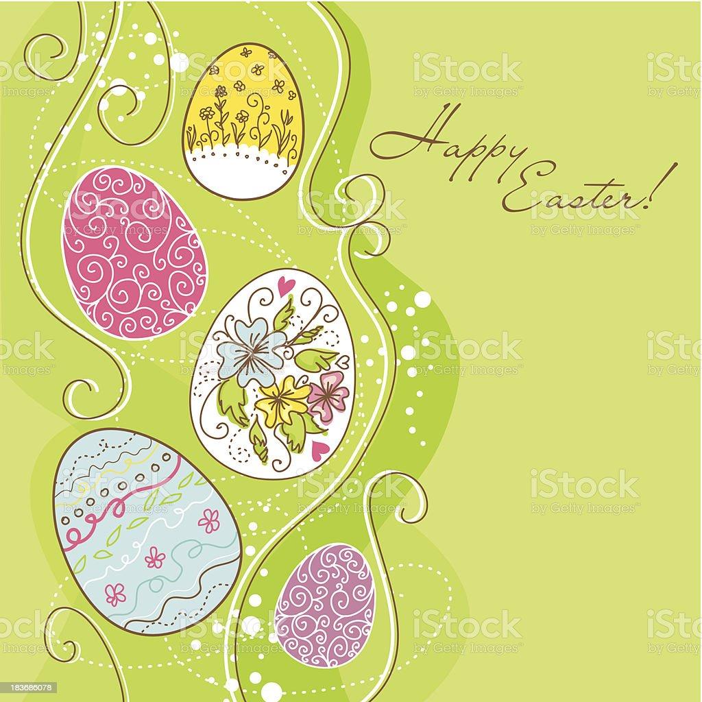 Easter egg  background royalty-free stock vector art
