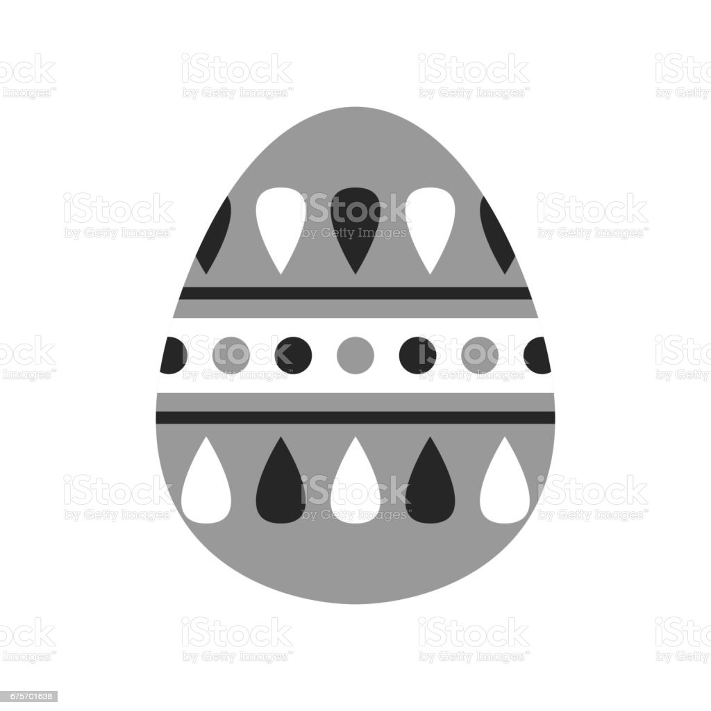 Easter egg, black and white flat icon for holiday isolated on white background. Vector illustration for design royalty-free easter egg black and white flat icon for holiday isolated on white background vector illustration for design stock vector art & more images of abstract