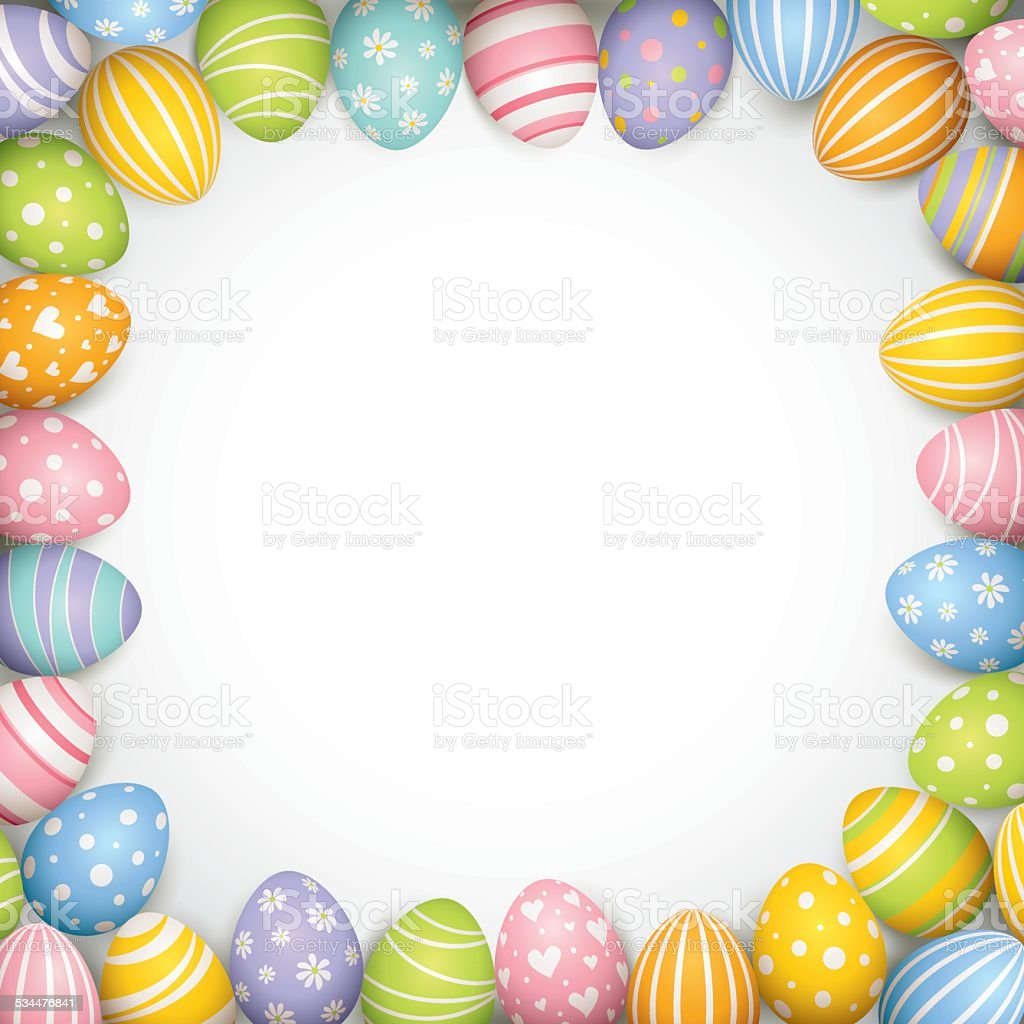 Easter Egg Border Stock Illustration - Download Image Now ...