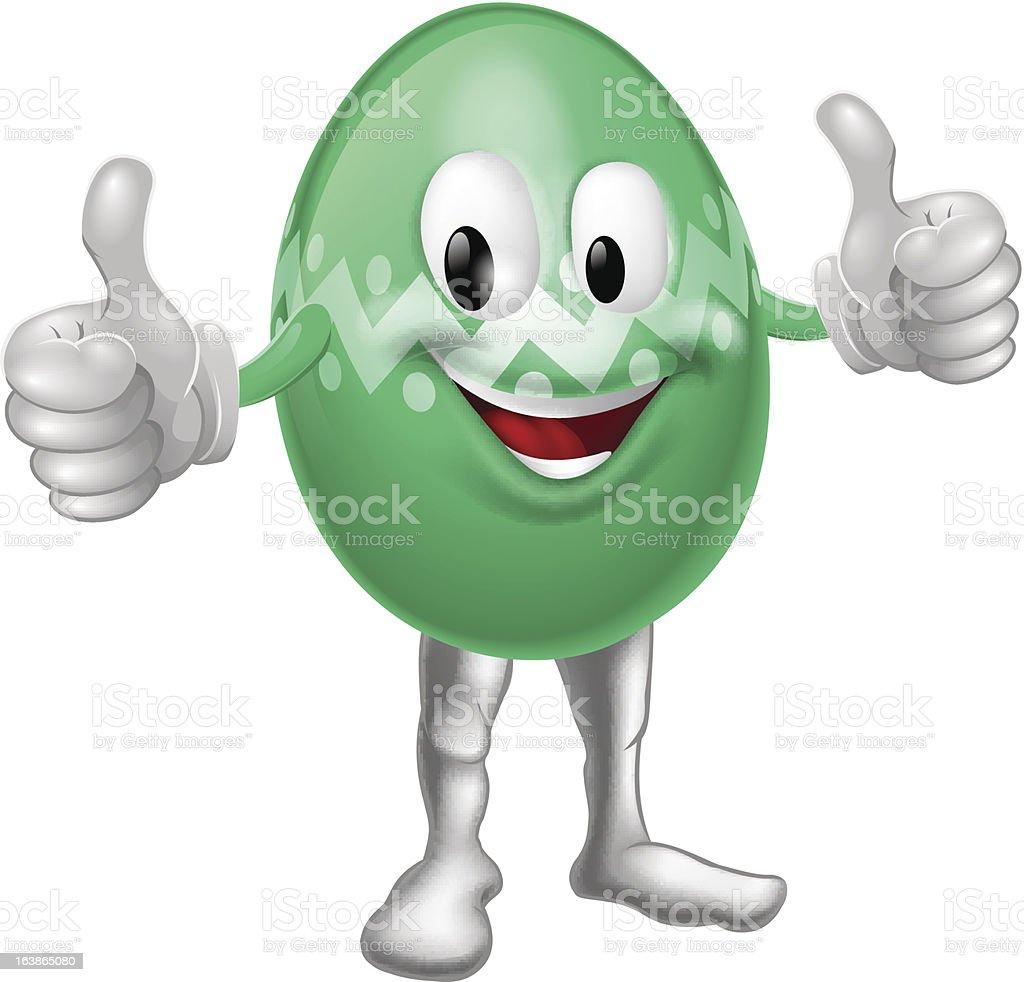 Easter Egg Cartoon Man royalty-free stock vector art